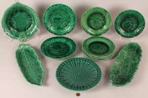 Lot 518: Assembled Lot of Majolica Porcelain, 11 pieces