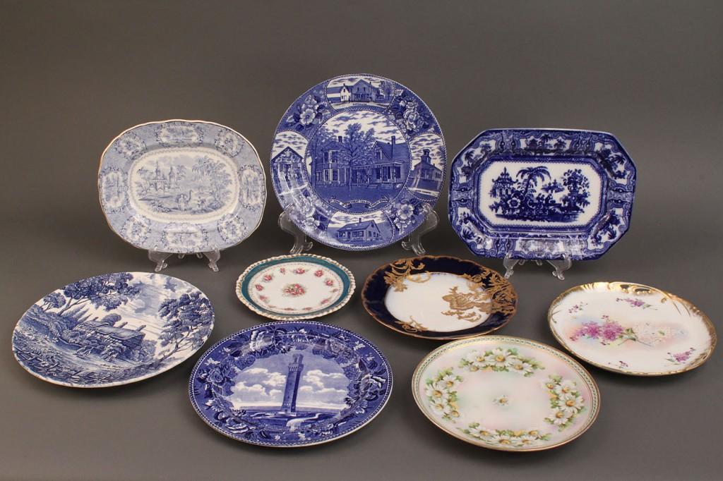 Lot 527: Lot of Blue & White Transferware & misc plates