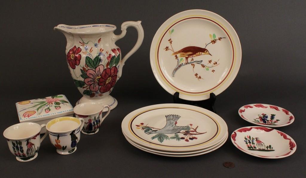 Lot 531: Lot of Blue Ridge Porcelain, 11 pcs.