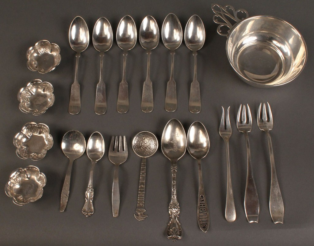 Lot 536: Assembled Lot of Sterling Silver, 20 Pieces