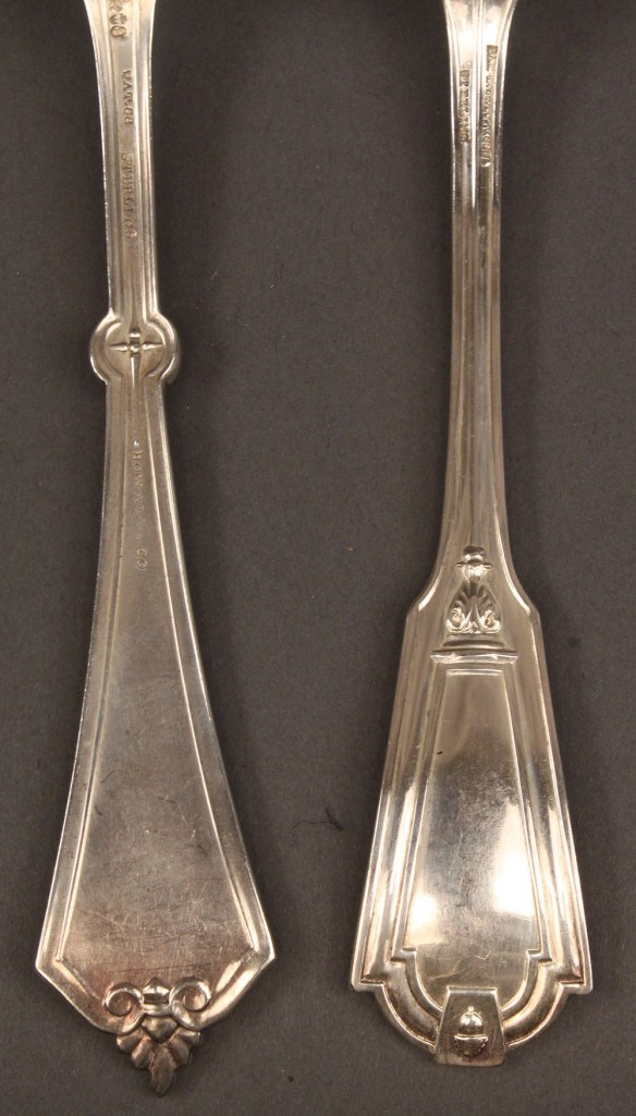Lot 537: Lot of 11 sterling forks, 19th c. Gorham, Whiting