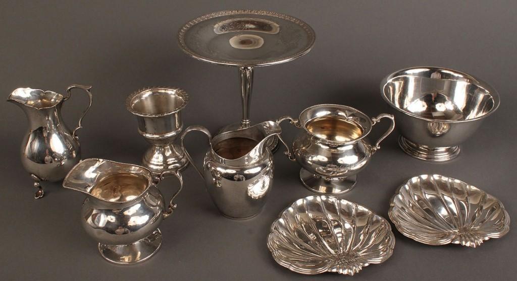 Lot 542: Assd. American sterling hollowware, 9 pcs
