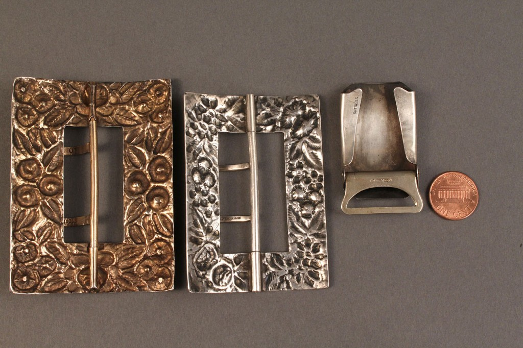 Lot 548: Lot of 3 Sterling Silver Buckles