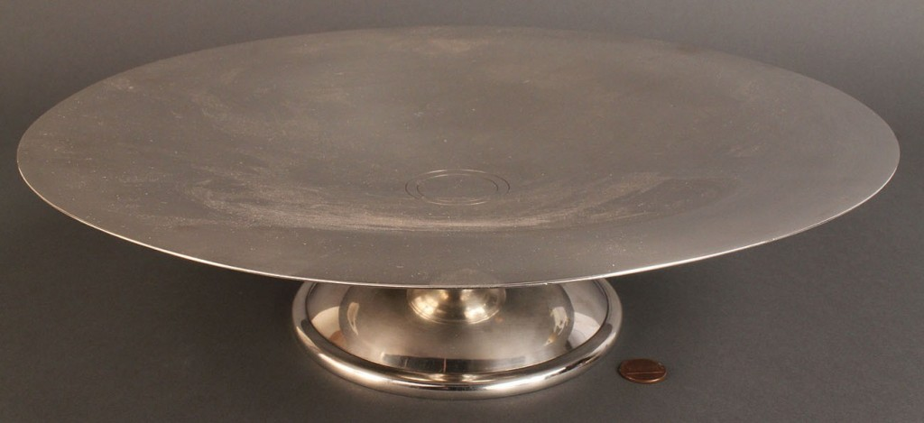 Lot 550: French Christofle Silverplate Art Deco Compote