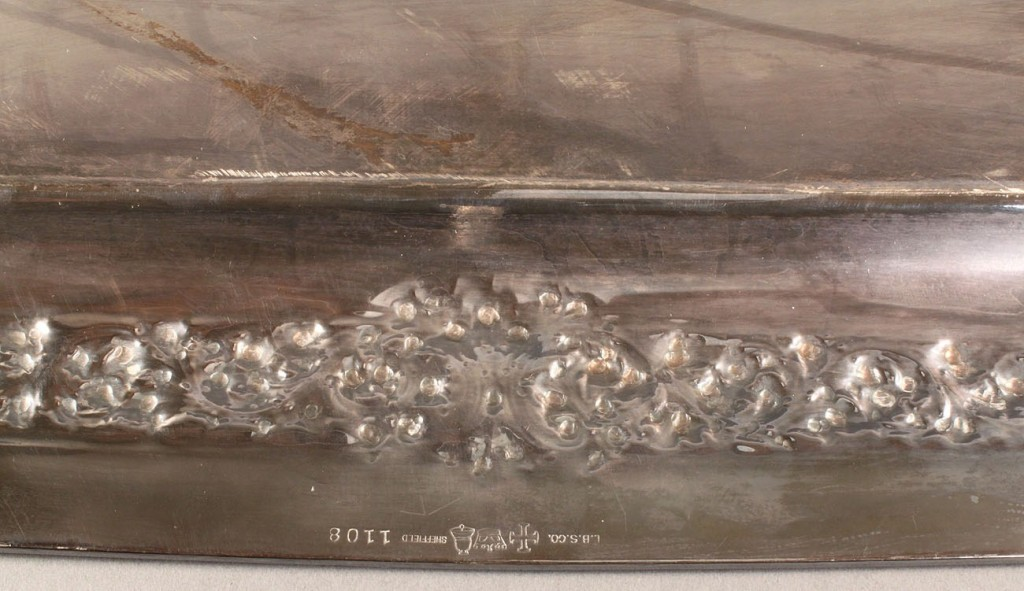 Lot 552: Lawrence B. Smith silver on copper serving tray