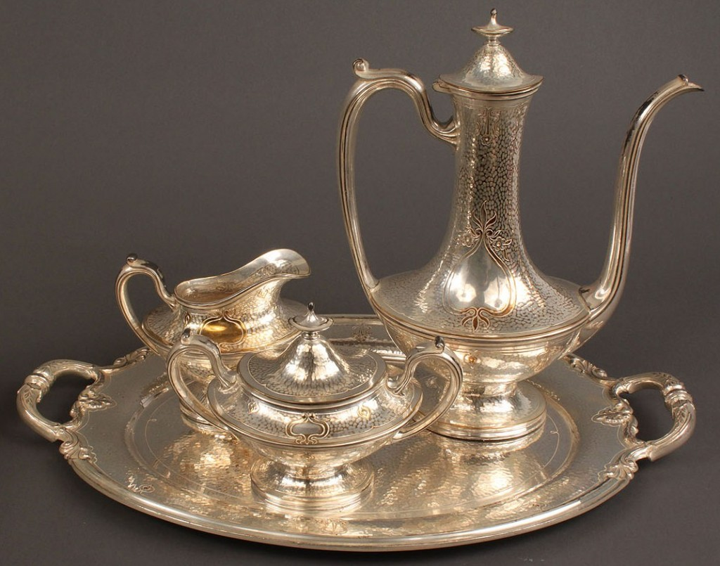 Lot 554: Lot of Silverplated Tableware incl. coffee service