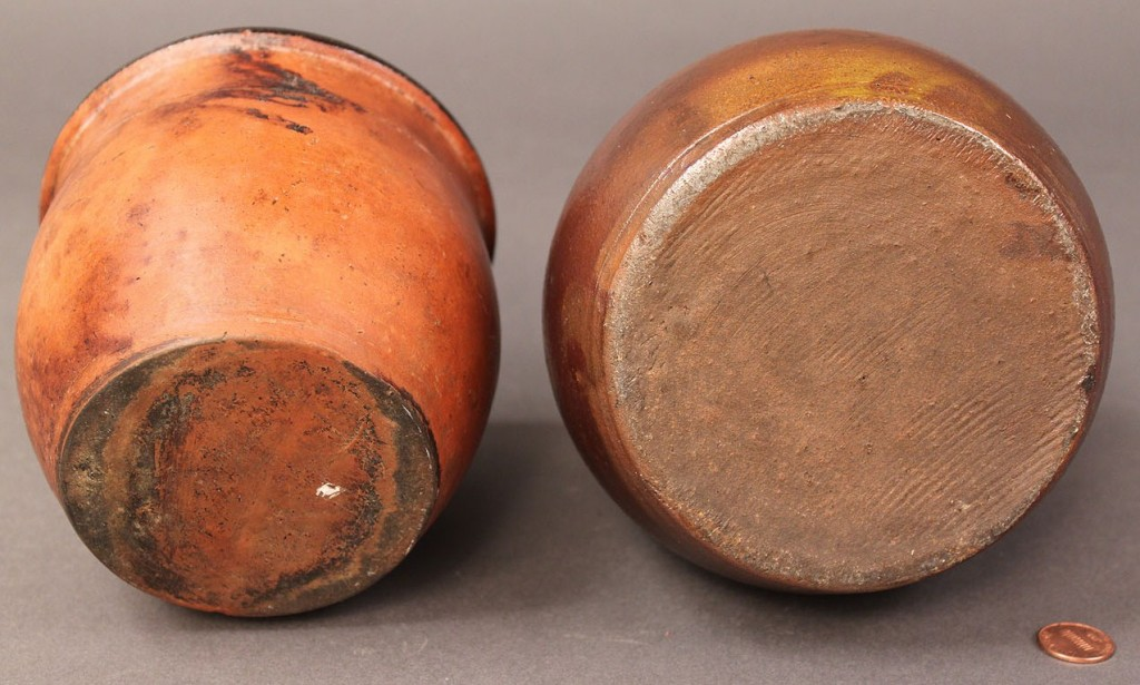 Lot 565: Lot of 2 Mid-Atlantic or Southern Pottery Pieces