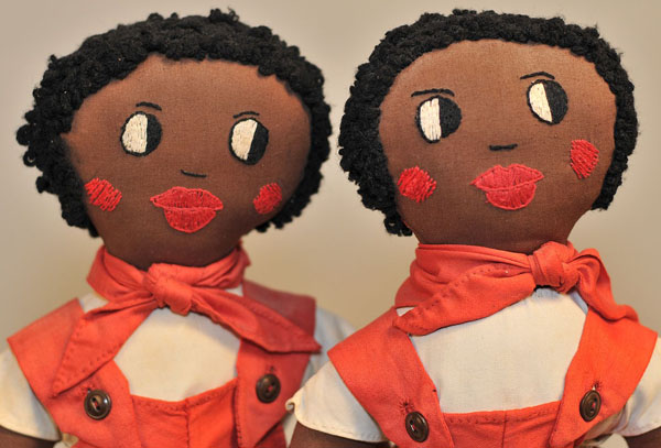 Lot 567: Pair of African-American Golliwog Dolls