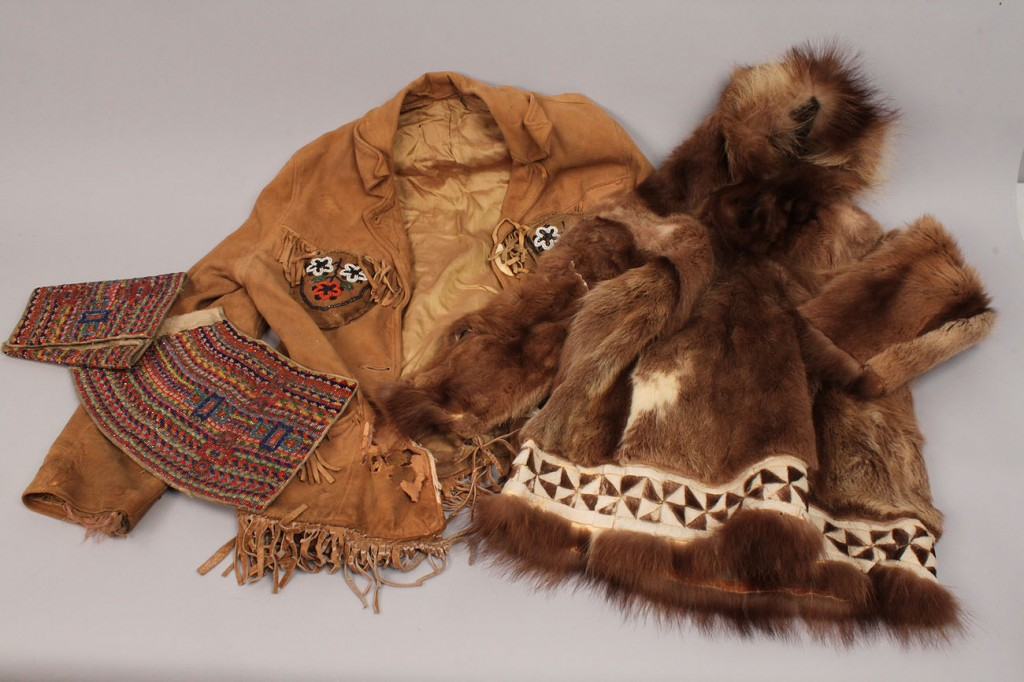 Lot 569: Lot of 3 Inuit and Plains Indian Clothing