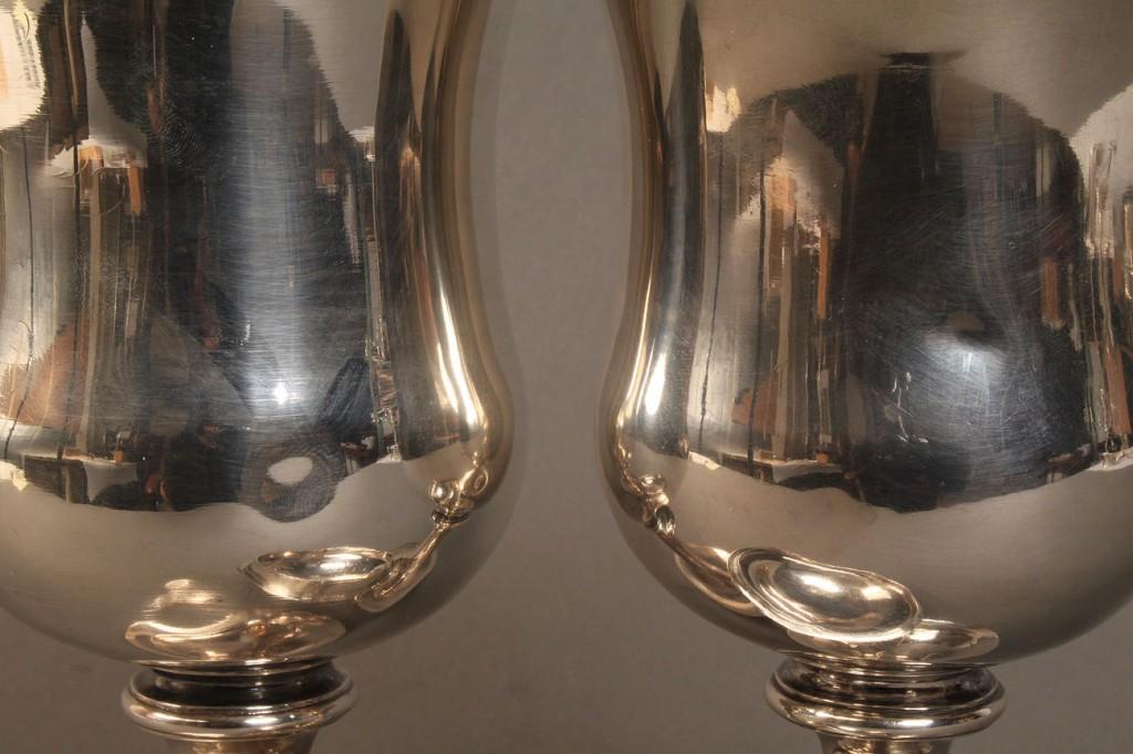 Lot 56: Pair of Philadelphia coin silver chalices