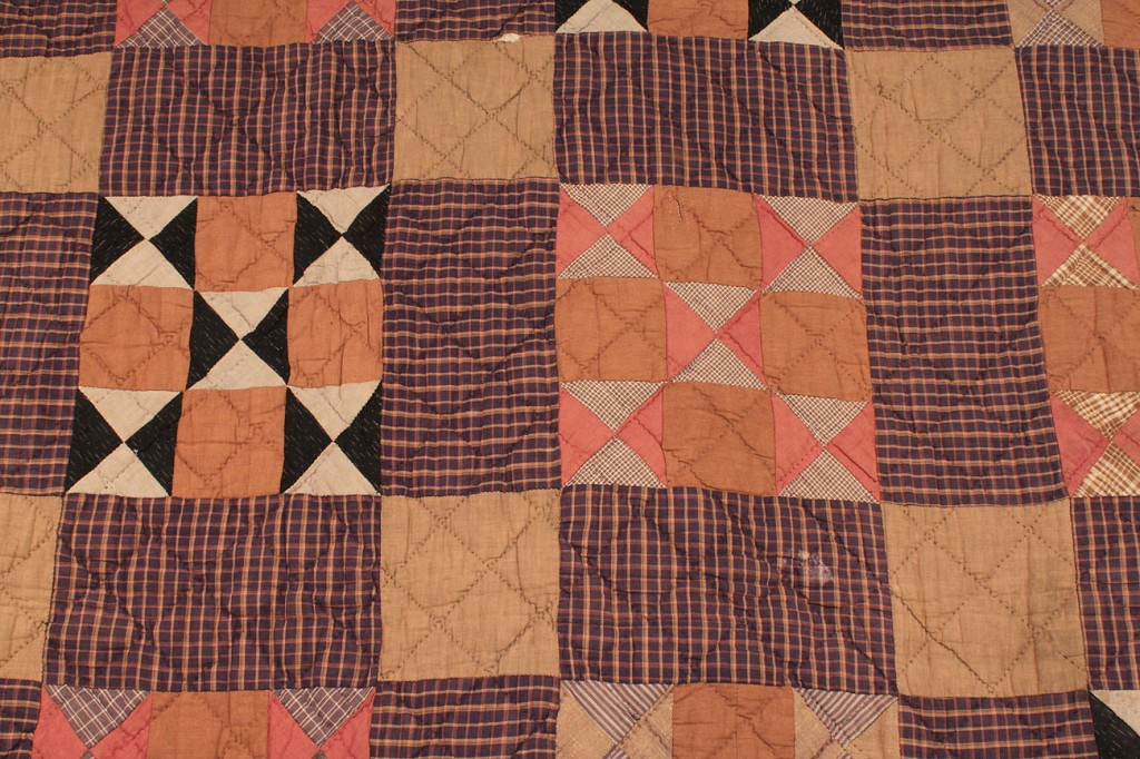Lot 573: Lot of 2 Quilts with Patchwork Designs