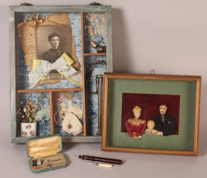 Lot 575: Group of sewing-related & family memento items