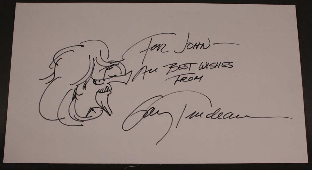 Lot 581: Gary Trudeau cartoon and autograph
