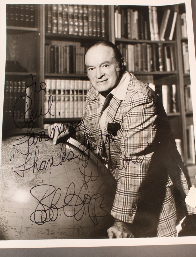 Lot 582: Lot of 4 Hollywood autographs incl. Bob Hope