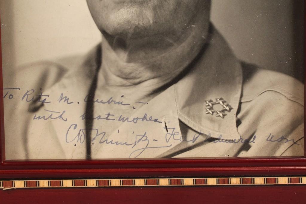 Lot 586: Admiral Nimitz signed Photograph