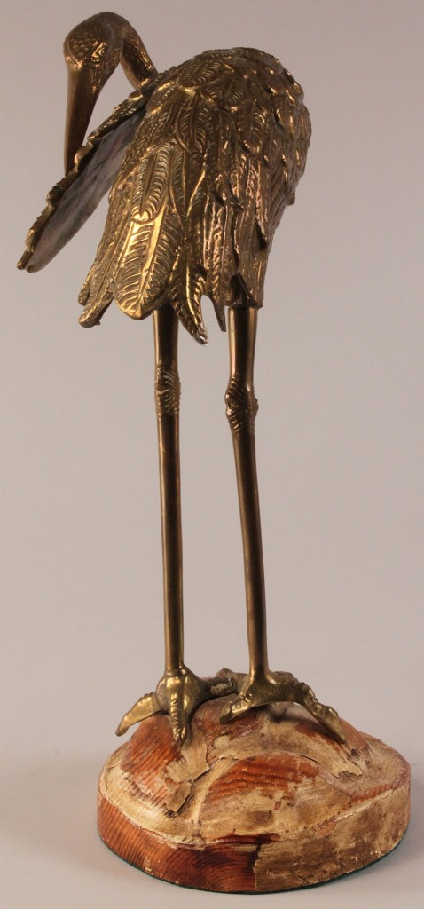 Lot 595: Pair of Continental Ibis Bronze Sculptures