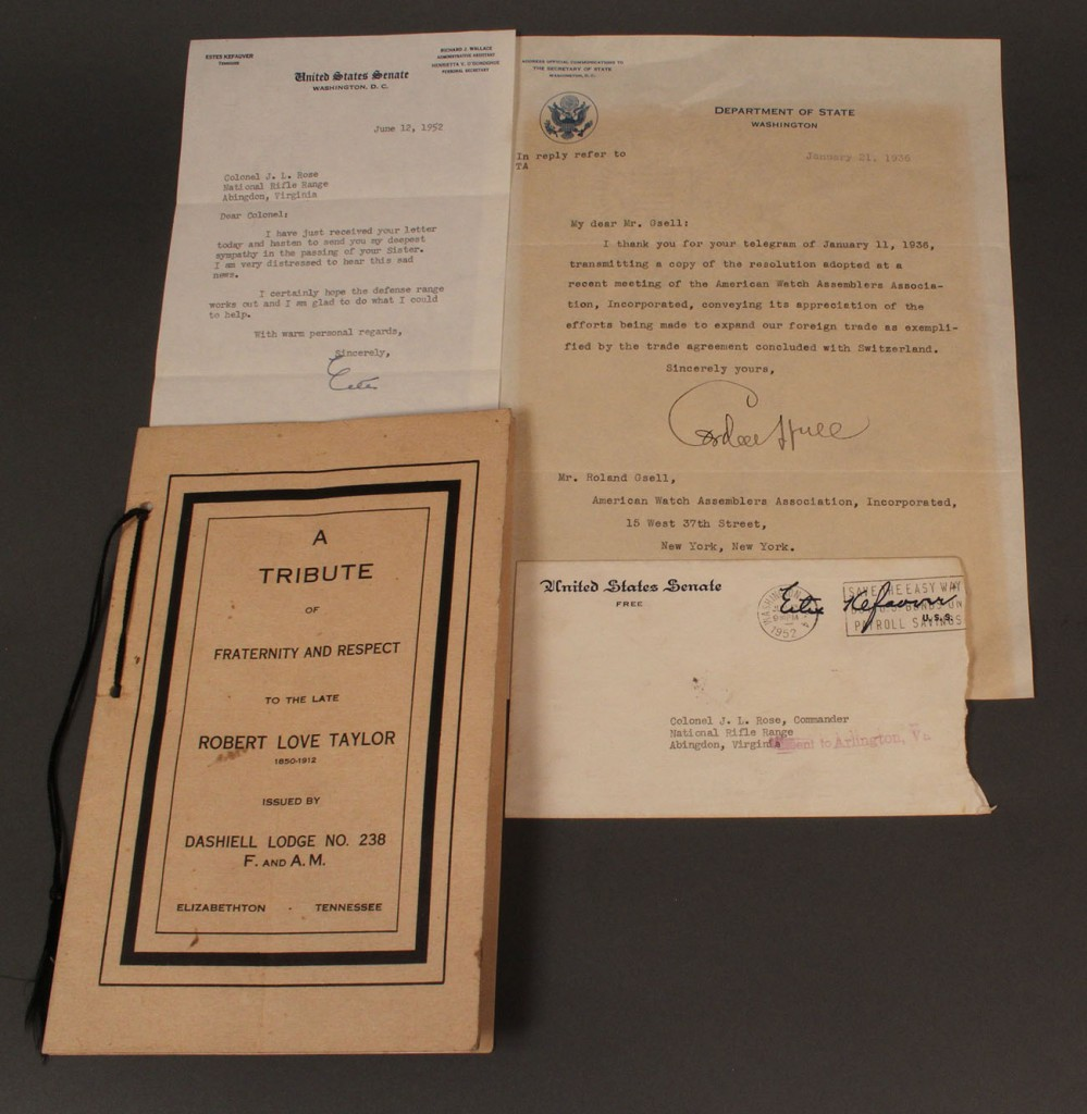 Lot 5: Lot of 3 Tennessee political documents