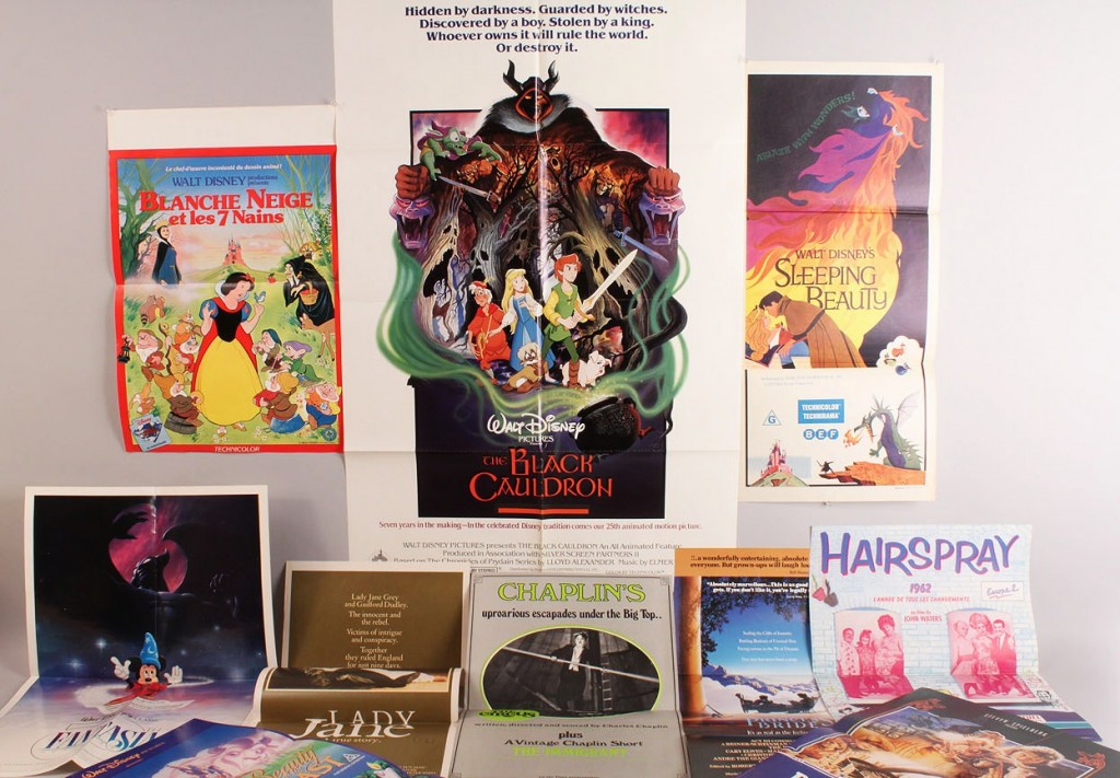 Lot 600: Lot of 10 Posters, 5 Disney, Chaplin and others