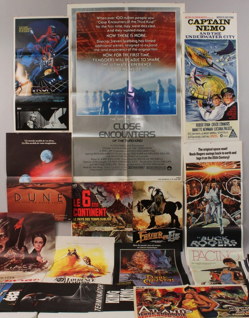 Lot 601: Lot of 30 Sci Fi & Action Movie Posters