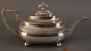 Lot 64: George III sterling Tea Pot