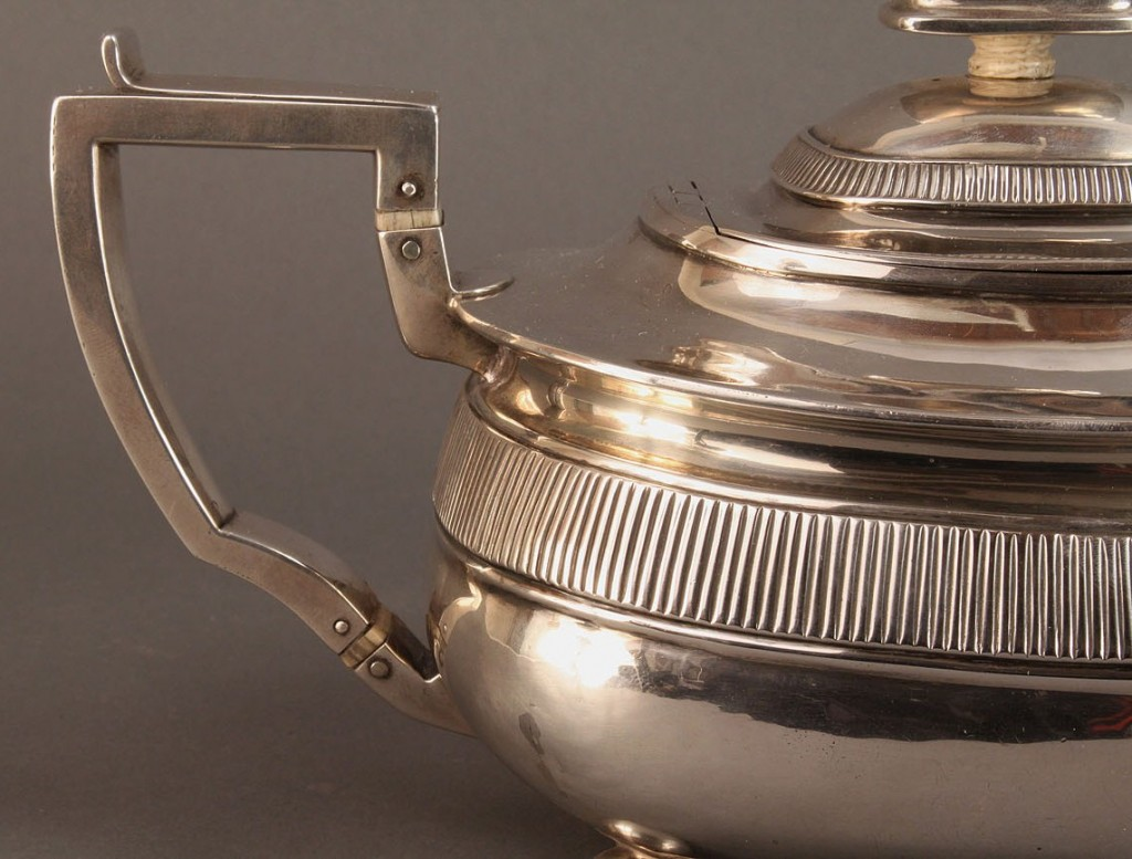Lot 64: George III sterling Tea Pot