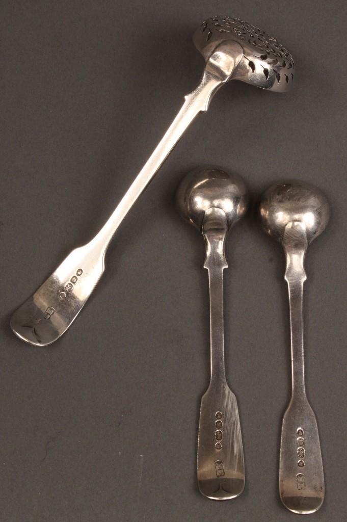 Lot 66: Lot of 3 English Silver flatware, Elizabeth Eaton