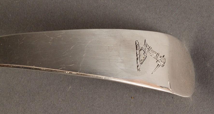 Lot 67: Sterling Scottish Punch Ladle, A. Edmonston
