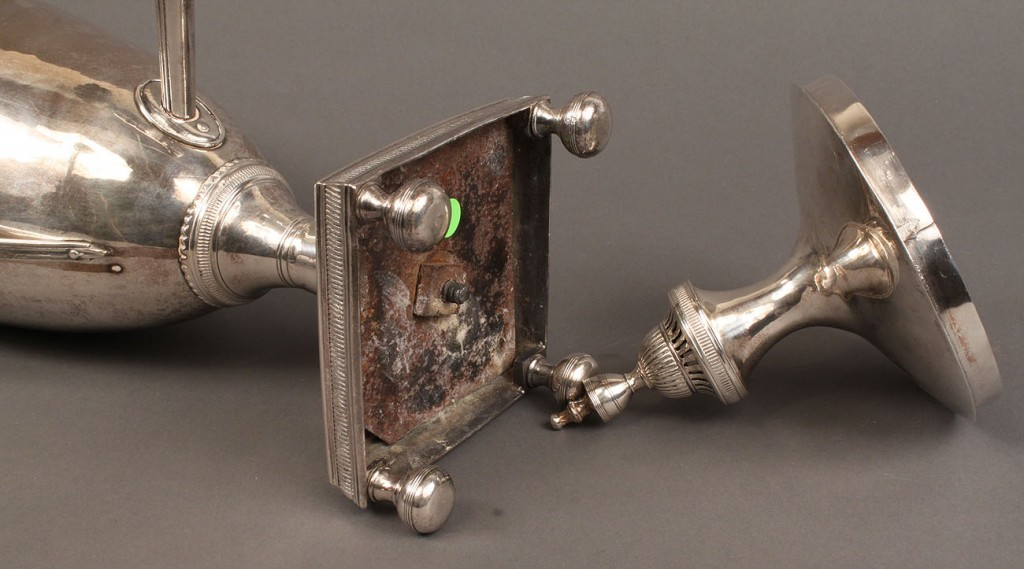 Lot 71: Neo-Classical Hot Water Urn, Sheffield Plate