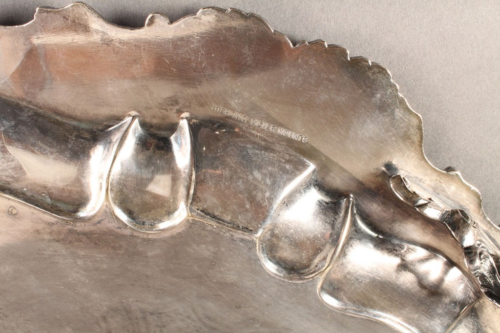 Lot 73: Large Footed Silver Tray, American