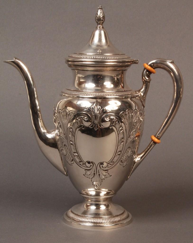 Lot 81: 5-pc. Sterling Tea & Coffee Service, Ellmore