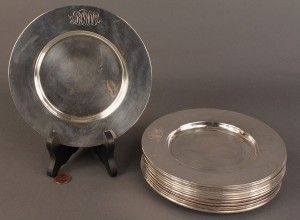 Lot 84: Lot of 13 Towle Sterling Bread Plates