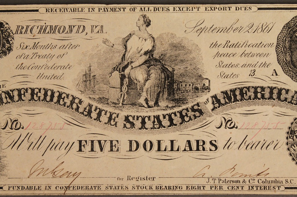 Lot 8: Confederate currency, 3 pcs, 3rd issue