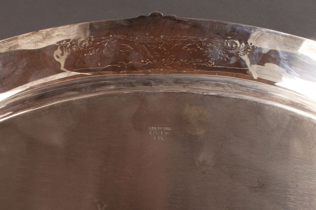 Lot 92: Sterling Silver Oval Tray