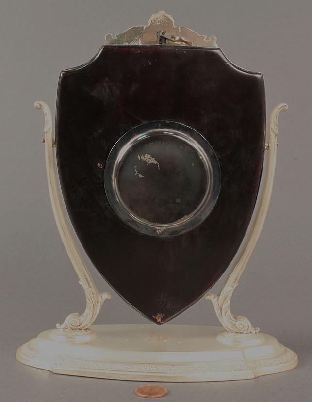 Lot 94: Waltham Clock, Reed & Barton Sterling Case