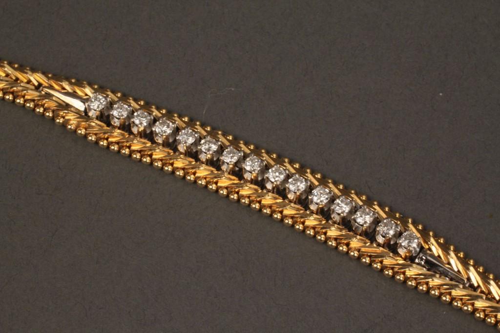 Lot 99:  18K Sapphire/Diamond Necklace & Bracelet