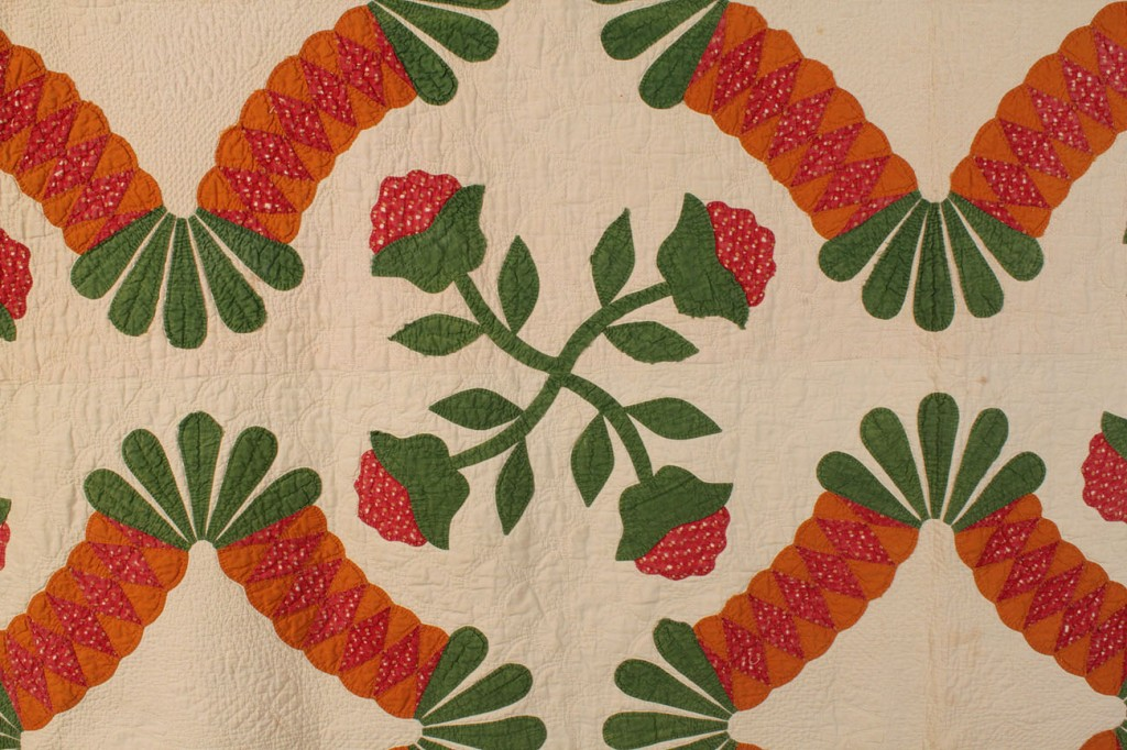 American quilt, signed & dated 1852