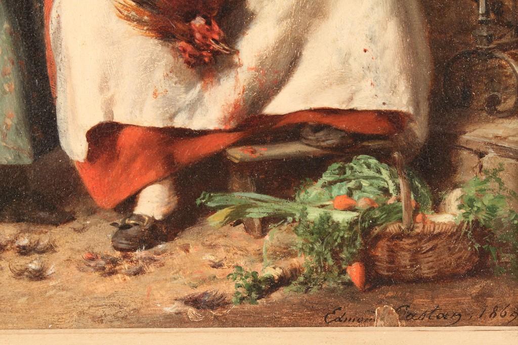 P. J. Edmond Castan, French, interior scene