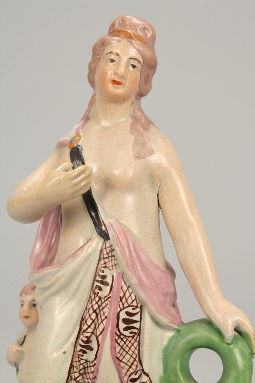 Lot 103: 2 Staffordshire pearlware figures, Wood type
