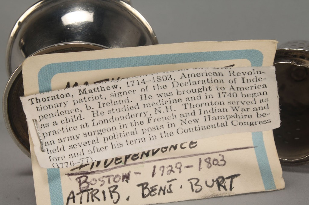 Lot 117: American silver caster, attrib. B. Burt