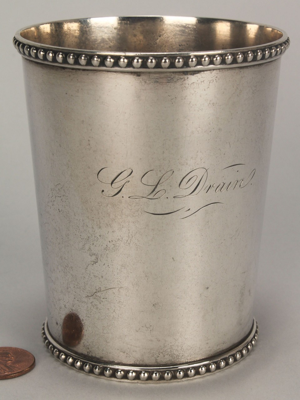 Lot 121: 2 Silver cups, Maryland julep & agriculture prize