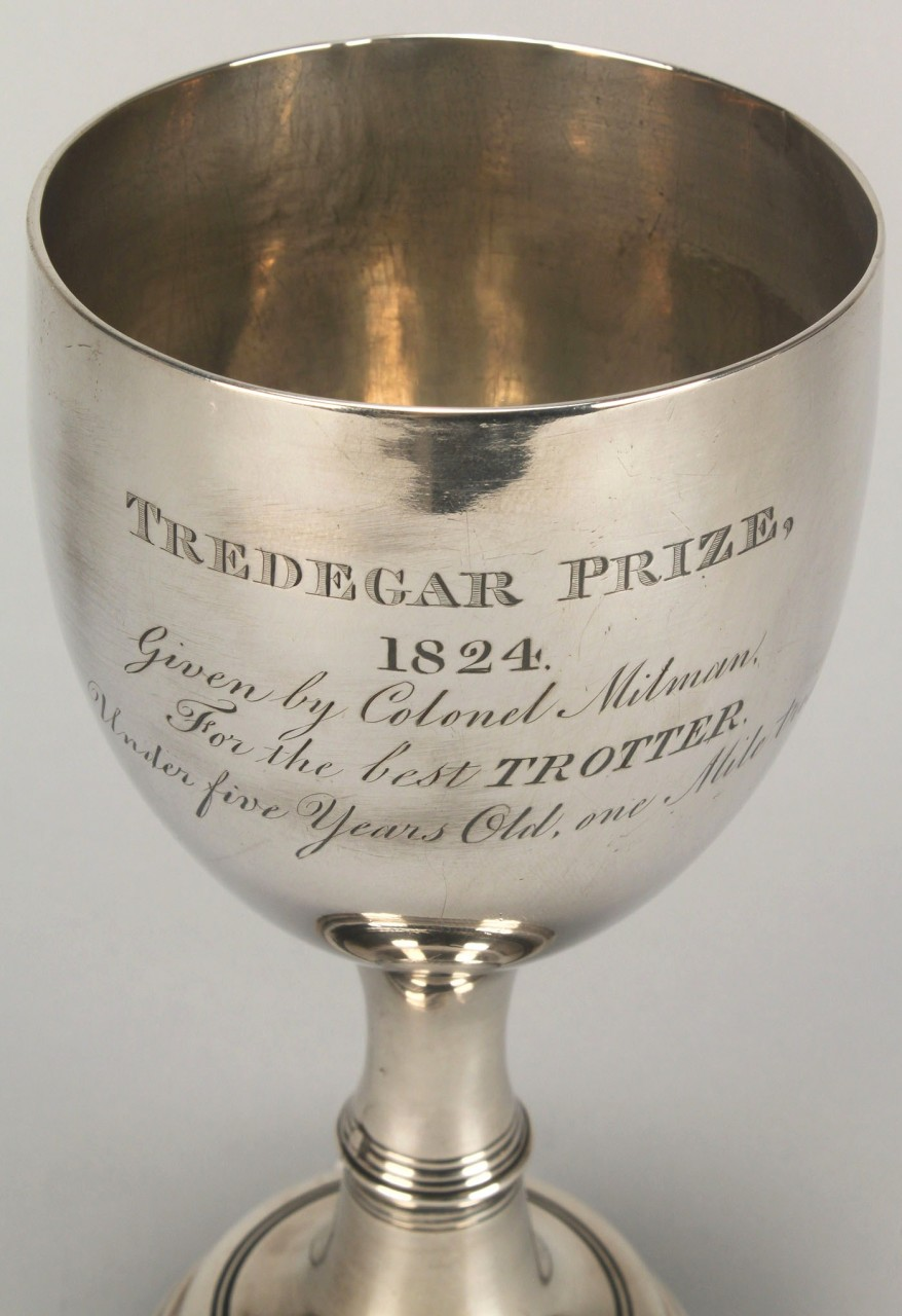 Lot 122: Silver horse trophy, 1824 Tredegar Prize