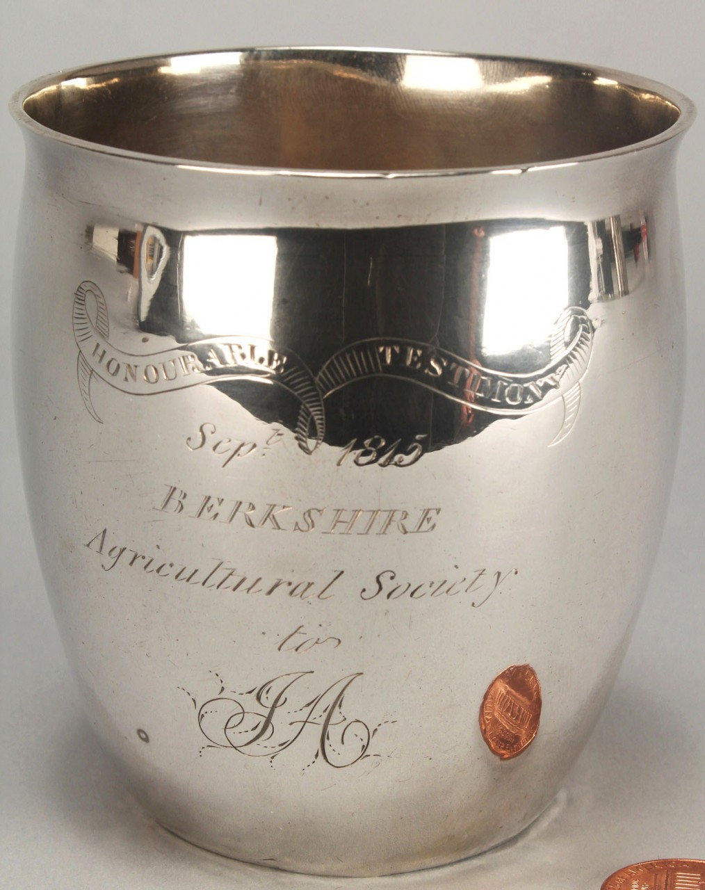 Lot 123: Berkshire Ag. Society Silver Cup