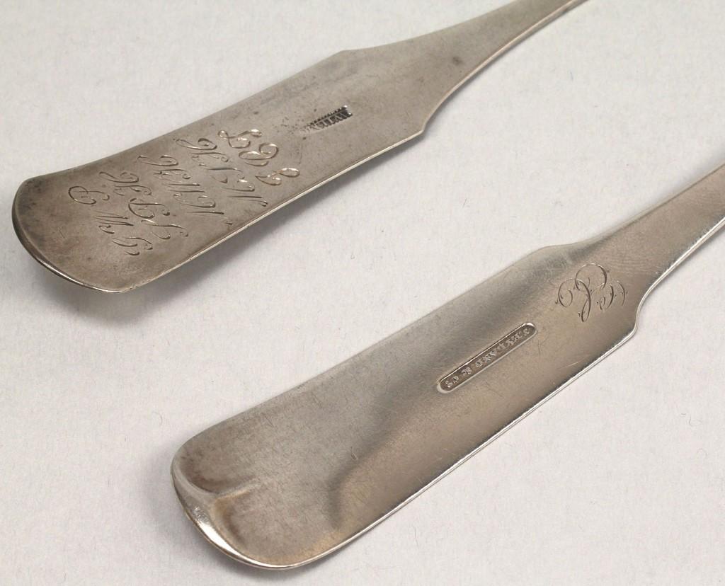 Lot 128: 5 pcs South Carolina coin silver flatware