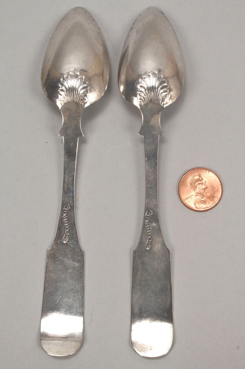 Lot 132: Two Charleston SC coin silver spoons