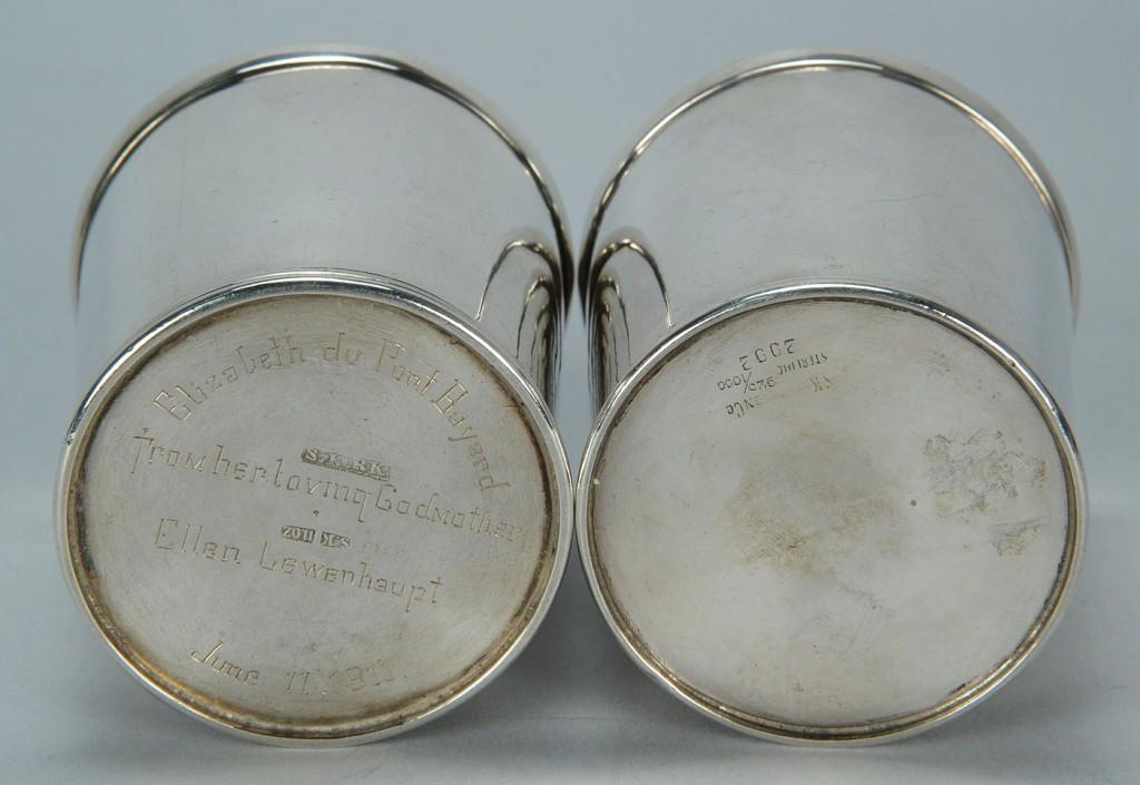 Lot 135: 2 Samuel Kirk silver julep cups
