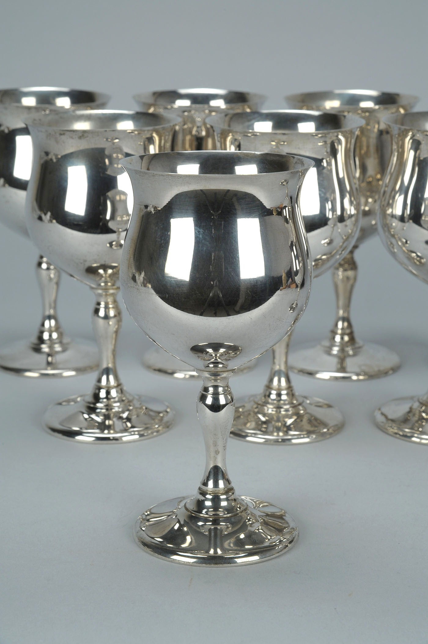 Lot 138 9 Fisher Sterling Silver Goblets