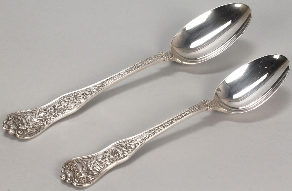 Lot 145: Two Tiffany Olympian pattern spoons