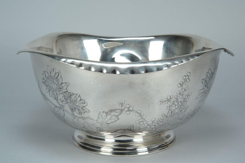 Lot 148: Whiting Japanese style sterling bowl