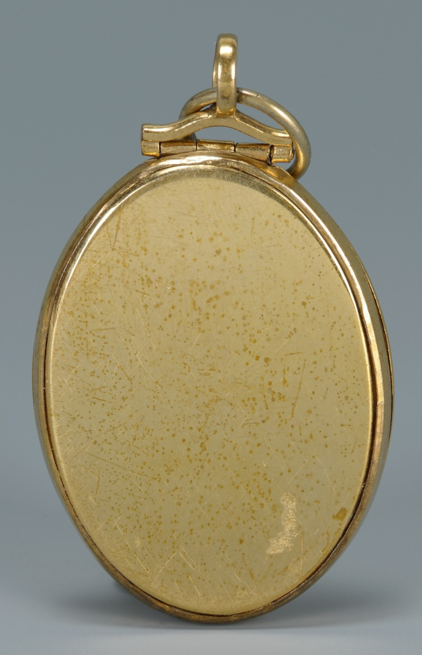 Lot 160: 10K Masonic Fob or Pendant, 19th c.