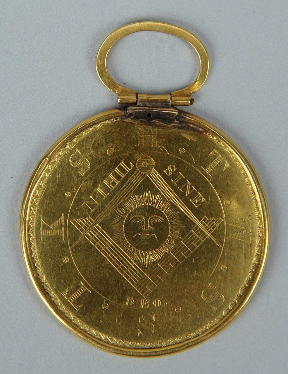 Lot 161: 1839 East Tennessee  Gold Masonic Medal